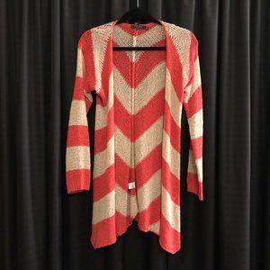 TCEC Orange & Cream Knit Sweater - M